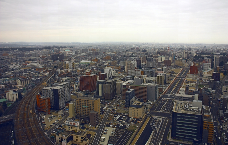 Sendai from Observation Deck 1